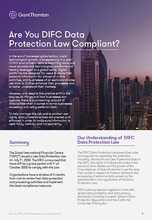 re DIFC Data Protection Law Compliant
